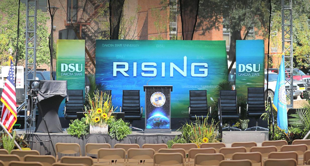 Stage Signage | DSU Rising