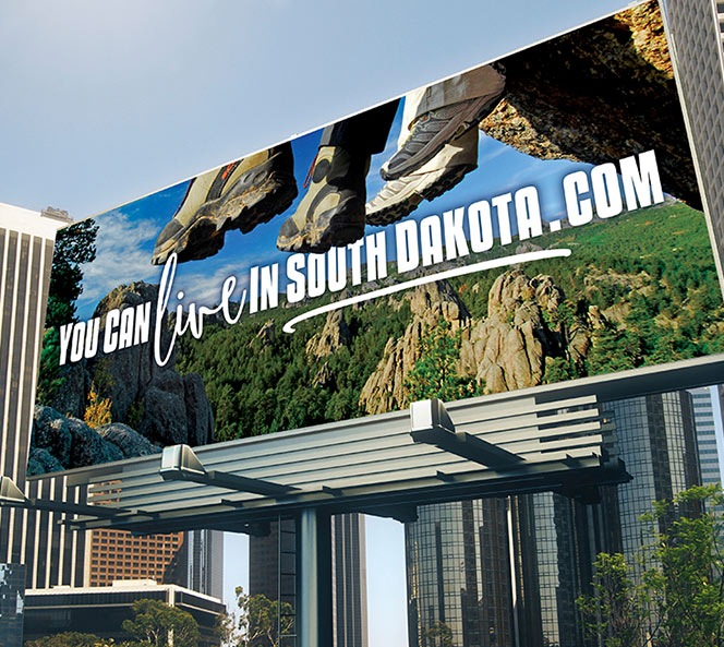 You Can Live in South Dakota billboard