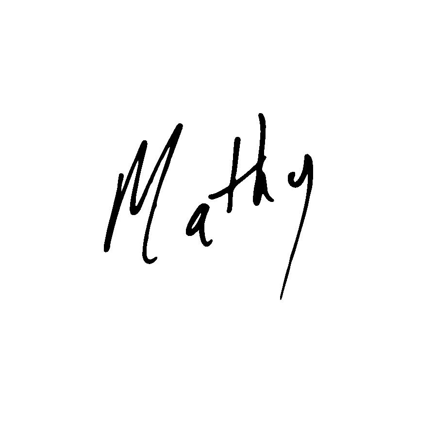 Christ Mattheson Signature