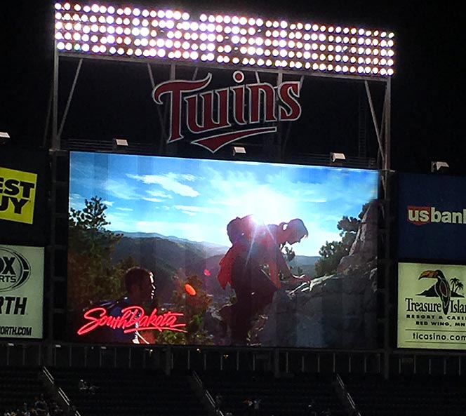 South Dakota Ad at the Twins Game