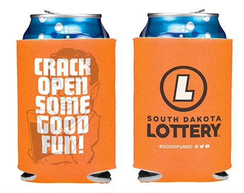 SD Lottery coozie
