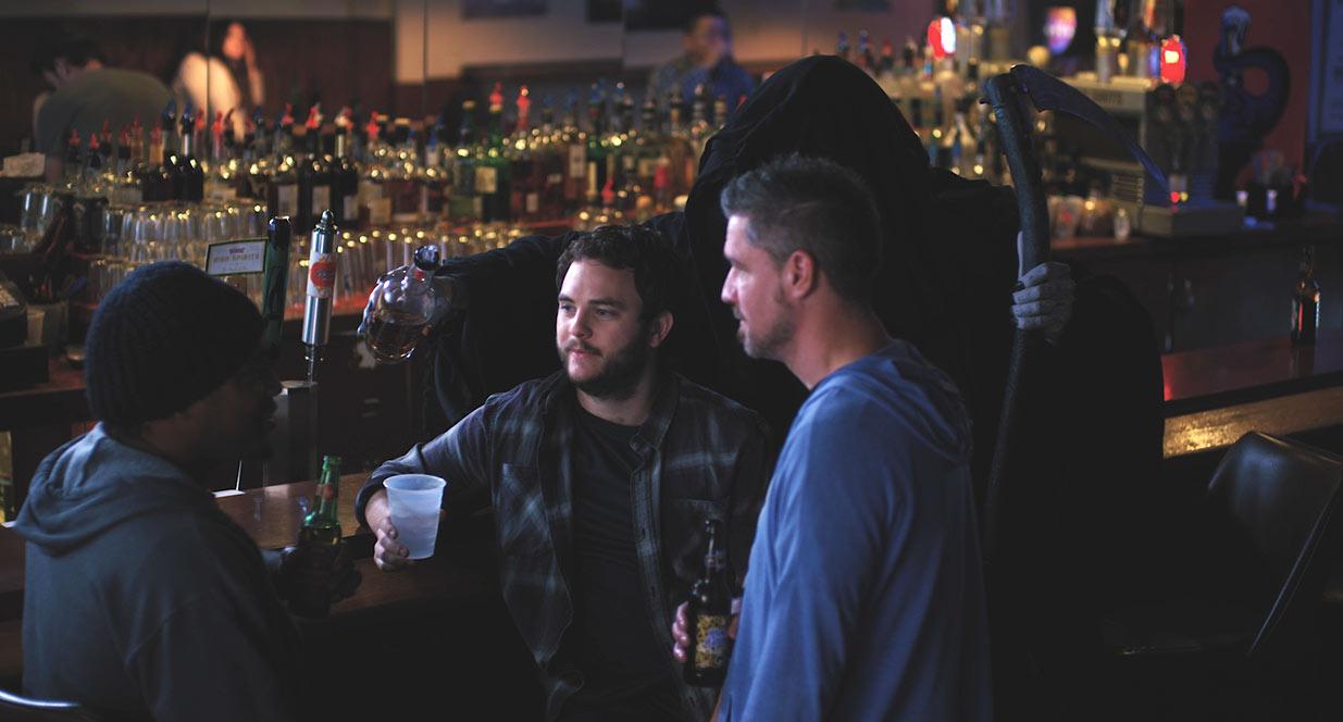 Jim Reaper at the bar