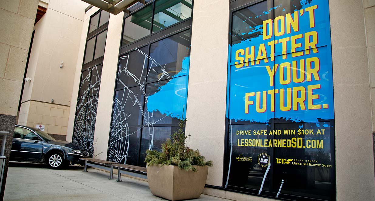 Don't Shatter Your Future Mall Window Sticker | SDOHS