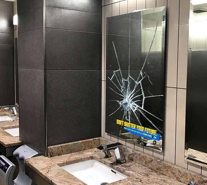 Don't Shatter Your Future Broken Mirror in Mall | SDOHS