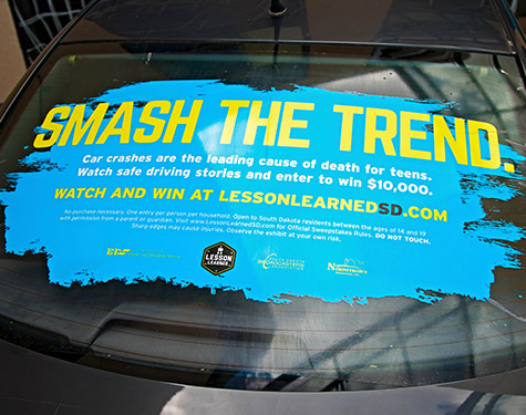 Smash the Trend Car Window Sticker | SDOHS