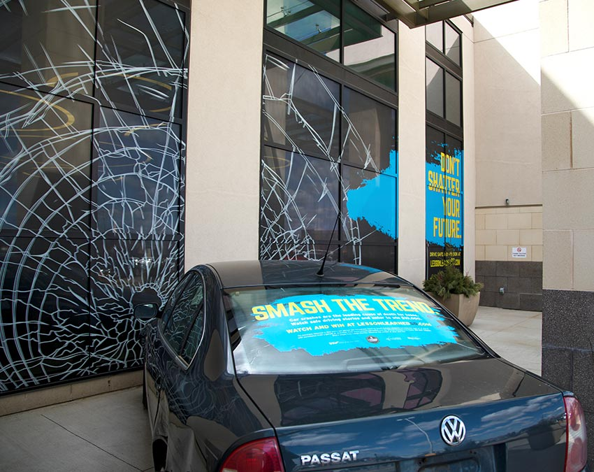 Don't Shatter Your Future Shattered Window at Mall | SDOHS