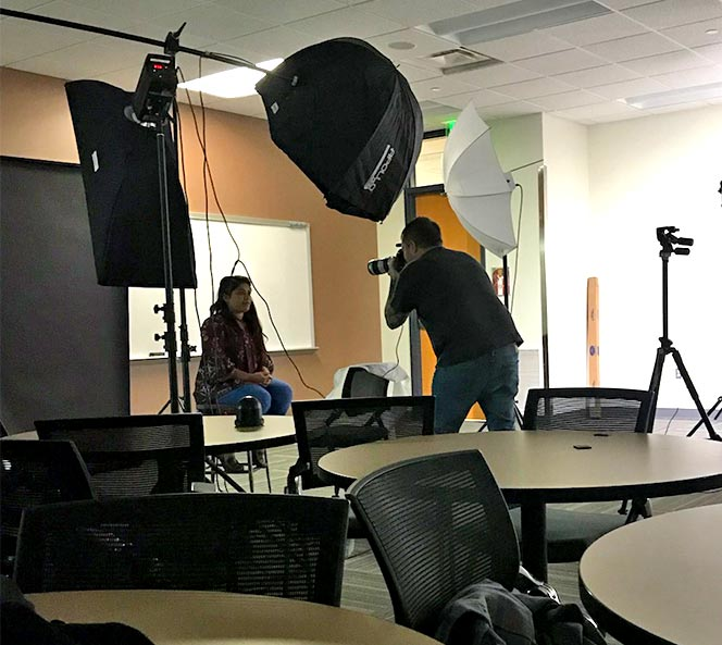 Behind the Scenes of the Sanford Lorraine Cross Award Faces Photo Shoot