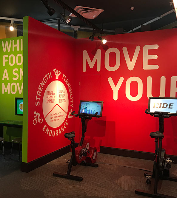 Wall Signage at Sanford Health Fit Zone