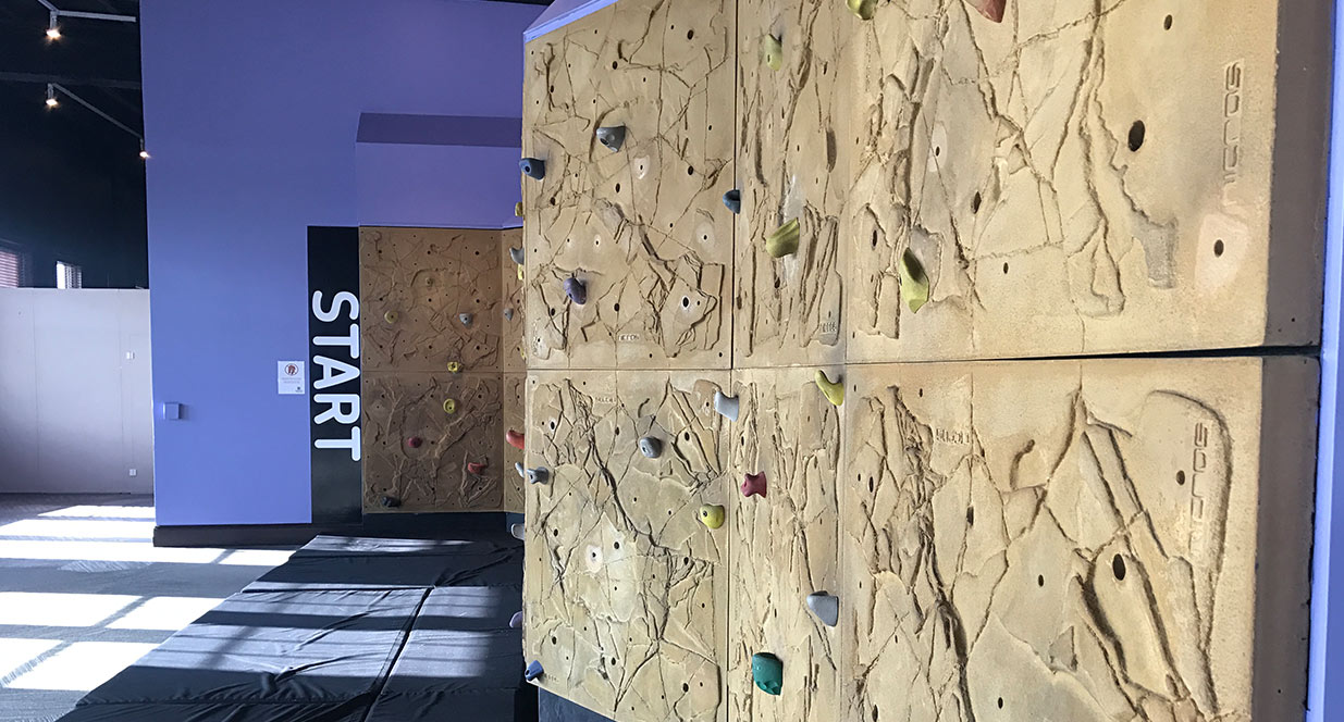 Rock Wall at Sanford Health Fit Zone