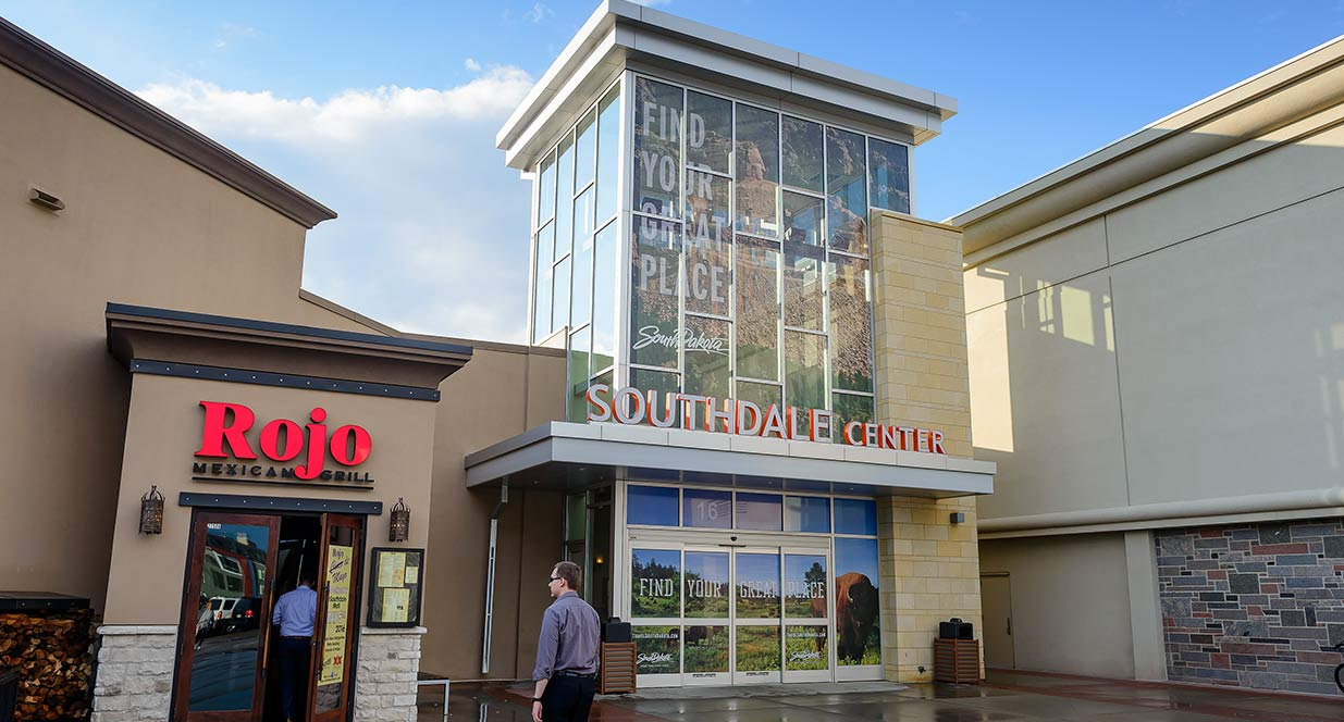 Southdale Mall with Find Your Great Place Signage