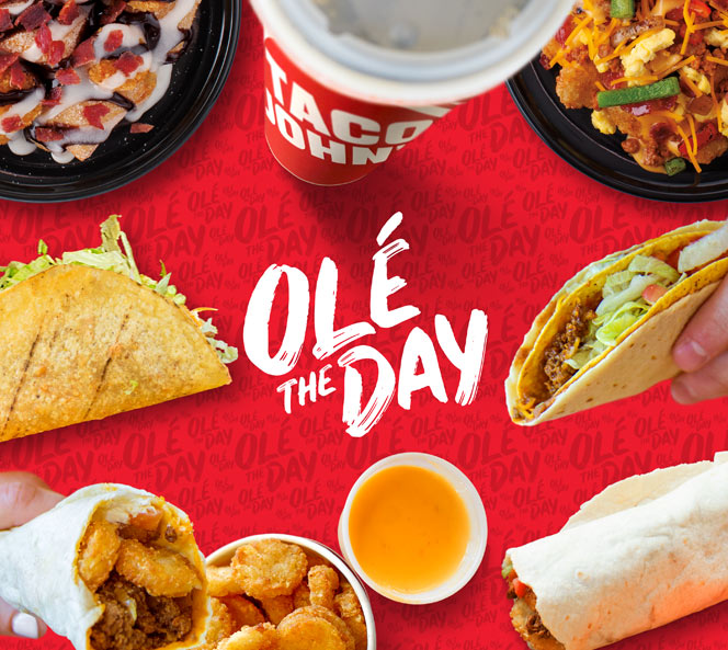 Ole the Day Display   Taco Johns