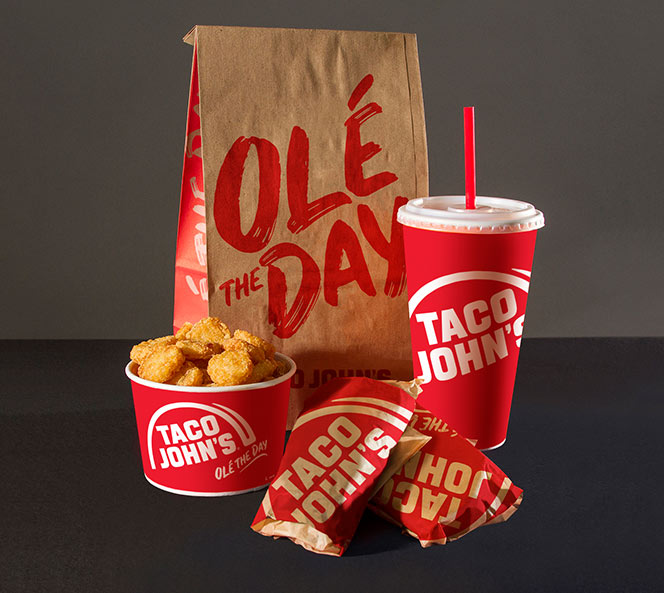 Ole the Day Packaging | Taco Johns