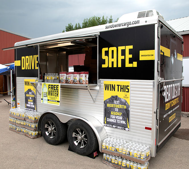 Drive Safe Trailer Display | Jim Reaper Campaign