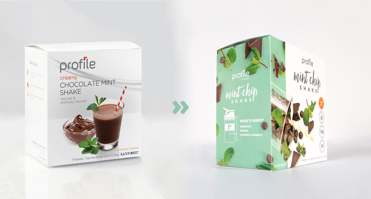 Chocolate Mint Shake | Profile Packaging