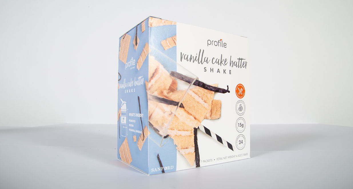 Vanilla Cake Batter Shake Package | Shake Packaging