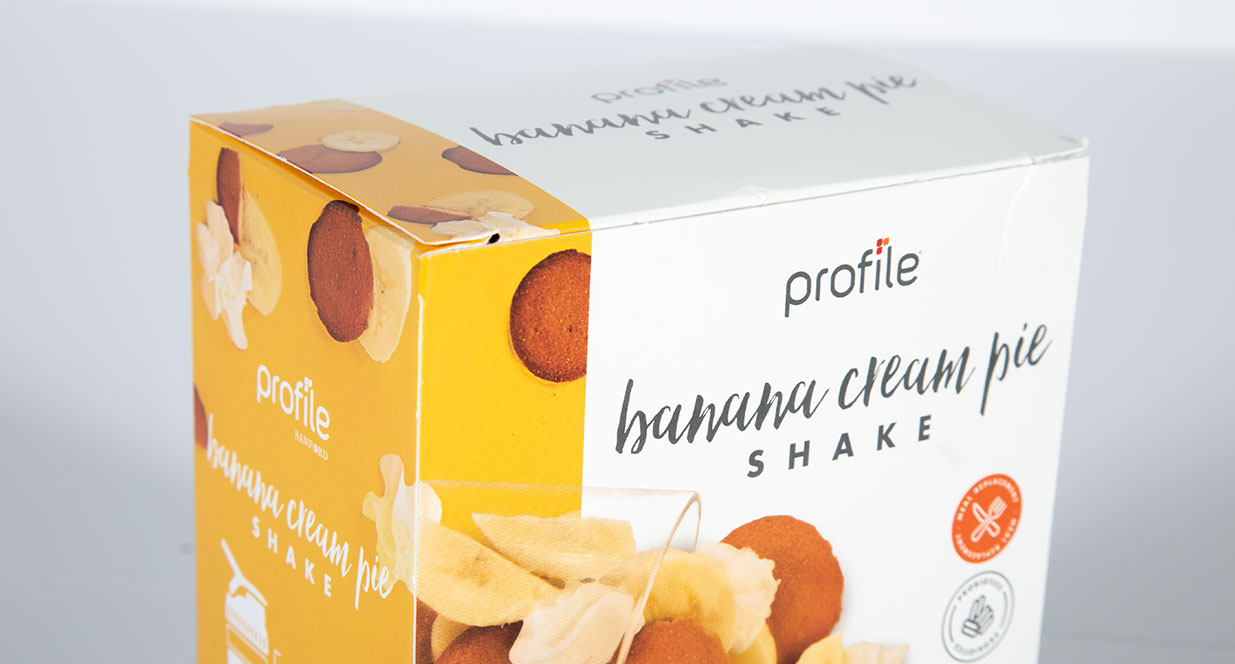 Banana Cream Pie Shake Package | Shake Packaging