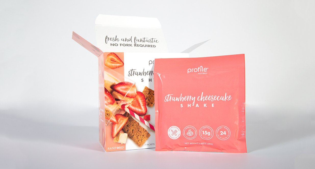 Strawberry Cheesecake Shake Package | Shake Packaging
