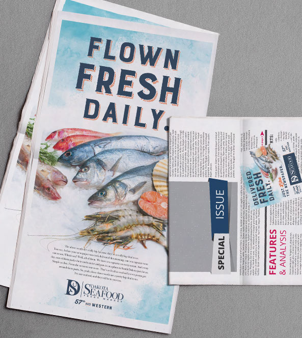 Newspaper Ad | Dakota Seafood