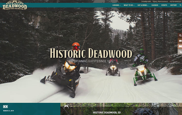 Deadwood Website Homepage | No Rules No Regrets
