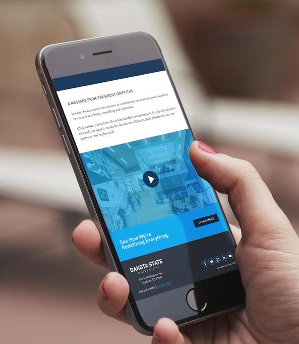 Mobile Site | DSU Rebrand