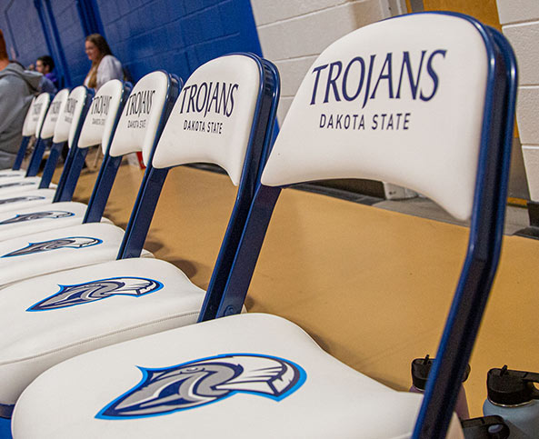 Trojans Athletic Chair | DSU Rebrand