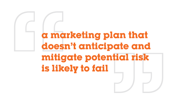 a marketing plan that doesn't anticipate and mitigate potential risk is likely to fail