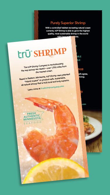 Tru Shrimp print material