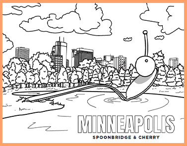 Minneapolis Spoonbridge & Cheery | Lawrence & Schiller Coloring Pages