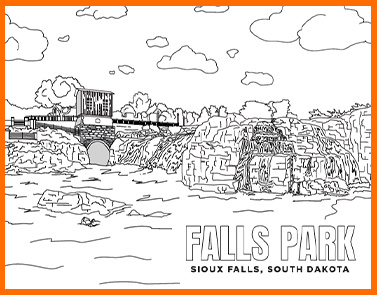 Falls Park | Lawrence & Schiller Coloring Pages