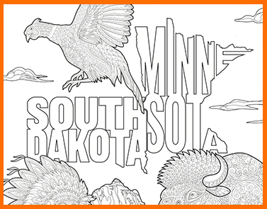 Minnesota & South Dakota | Lawrence & Schiller Coloring Pages