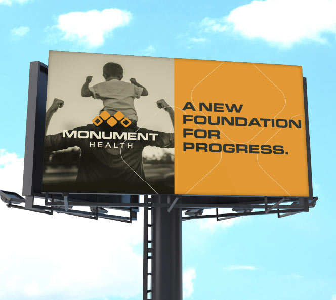 Monument Health Brand Billboard | Monument Health Work Sample