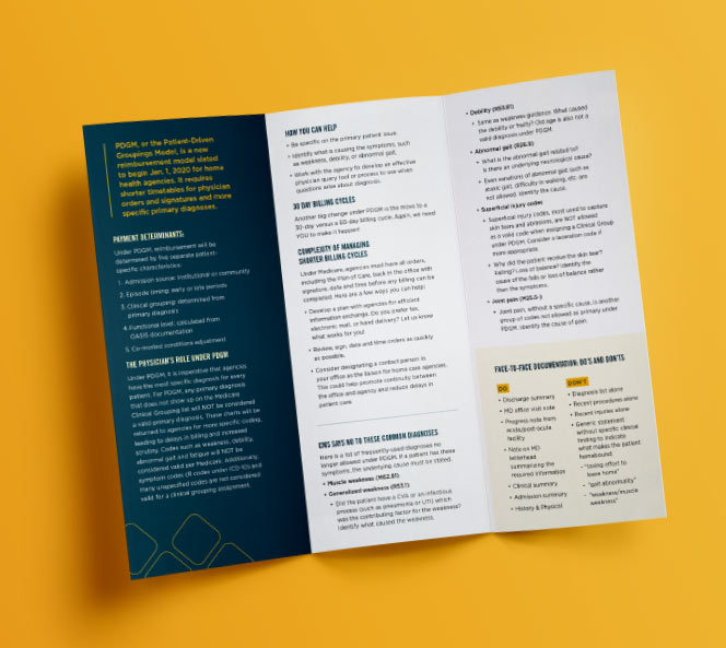Monument Health Brochure | Monument Health Work Sample
