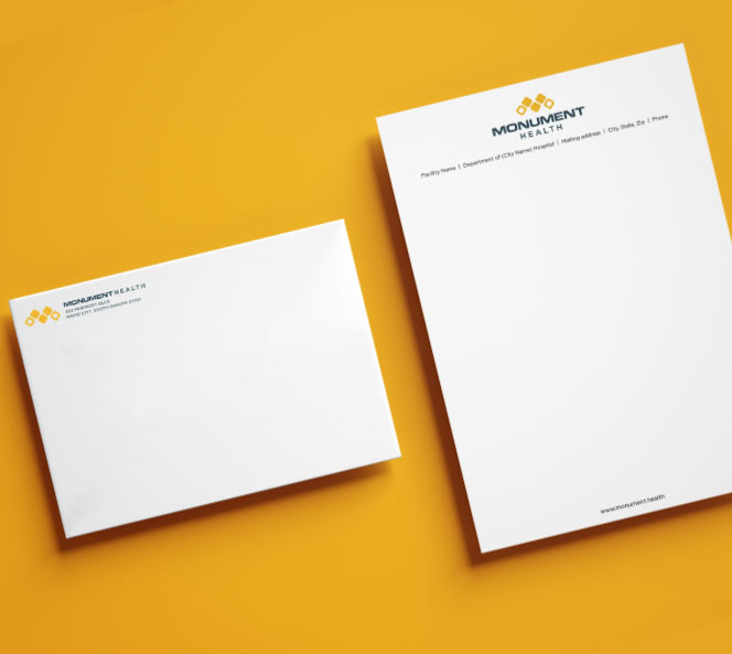 Monument Health Stationary | Monument Health Work Sample