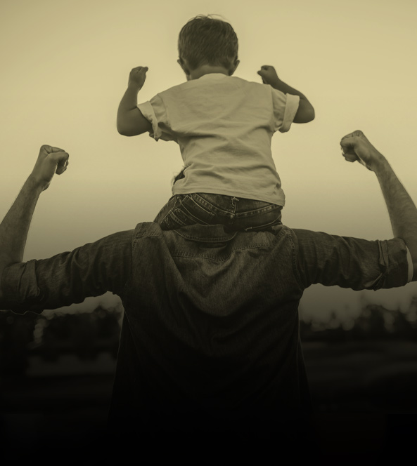 Kid on Shoulders | Monument Health Work Sample