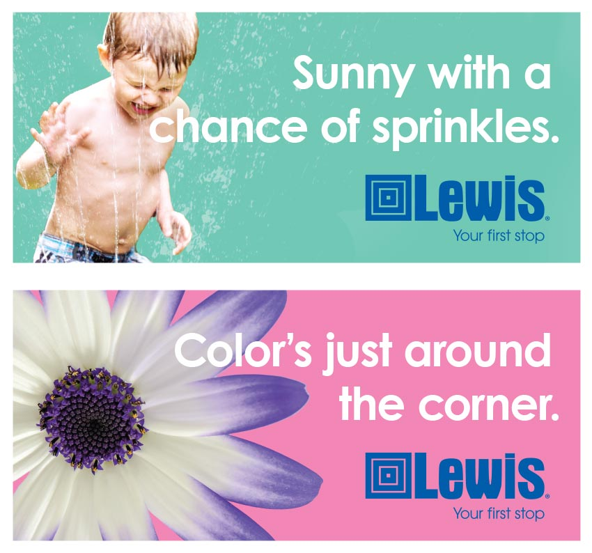 Lewis Billboard | Lawn & Garden Work Sample