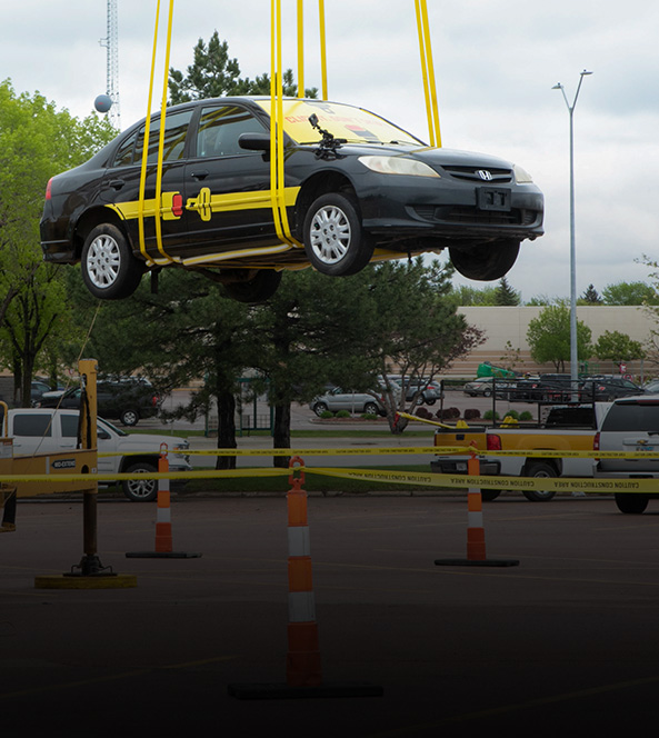 Suspended Car | South Dakota Office of Highway Safety