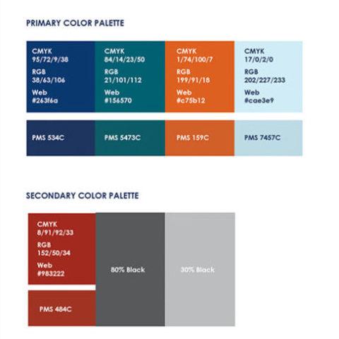 DOR Color Palette | Department of Revenue Work Sample, Lawrence & Schiller