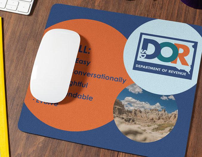 DOR Branded Mousepad | Department of Revenue Work Sample, Lawrence & Schiller
