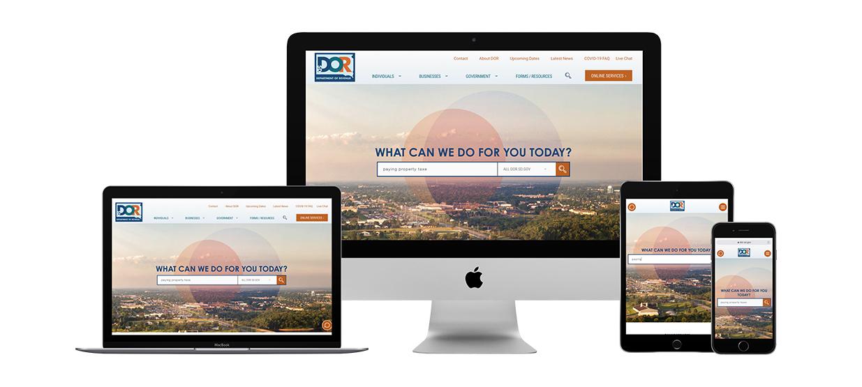 DOR Website Digital | Department of Revenue Work Sample, Lawrence & Schiller