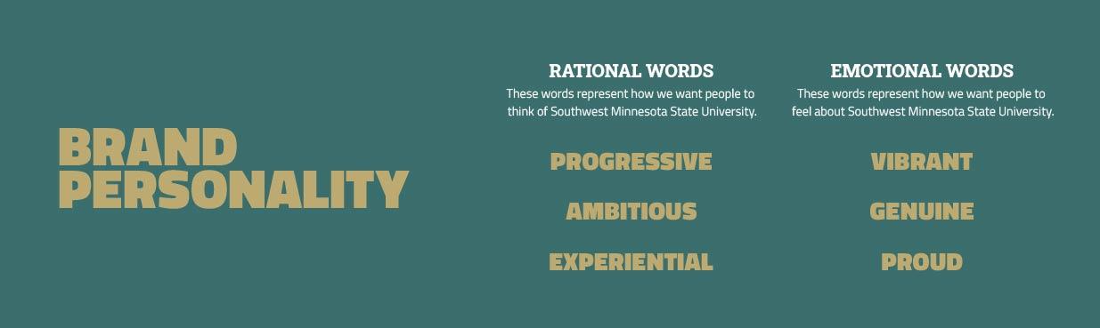Brand Personality | Southwest Minnesota State University