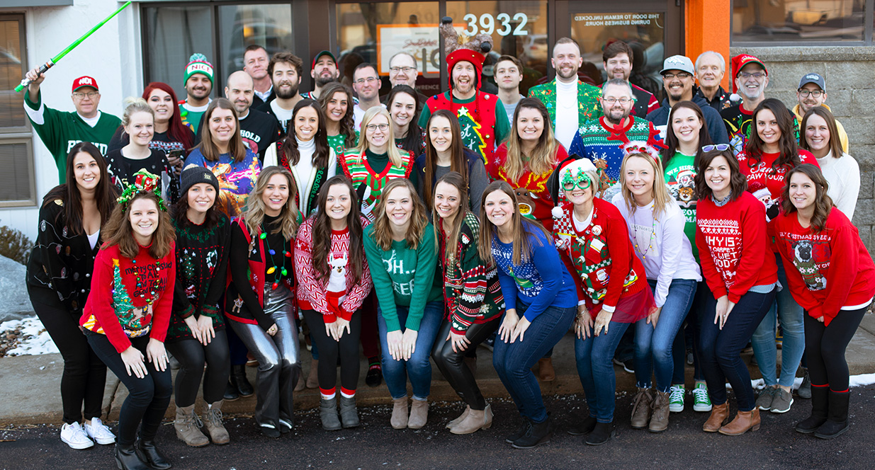 Group Christmas Photo | Company Culture, Lawrence & Schiller