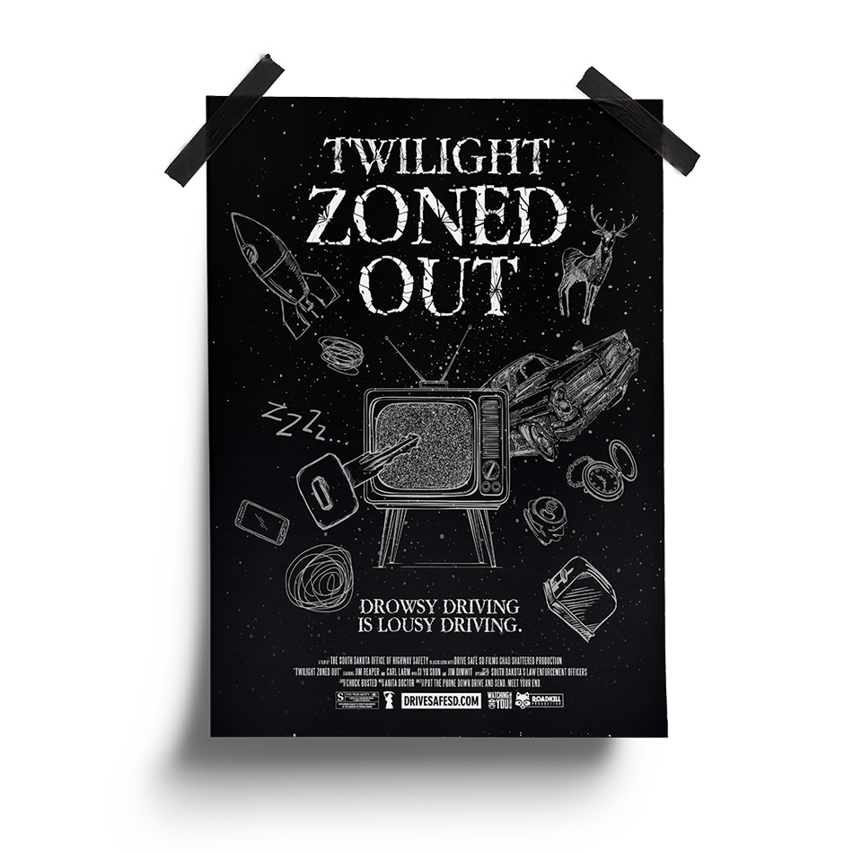 Twilight Zoned Out Poster | South Dakota Office of Highway Safety Movie Posters