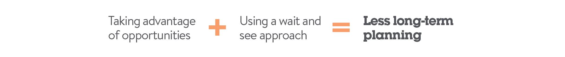 less long-term planning