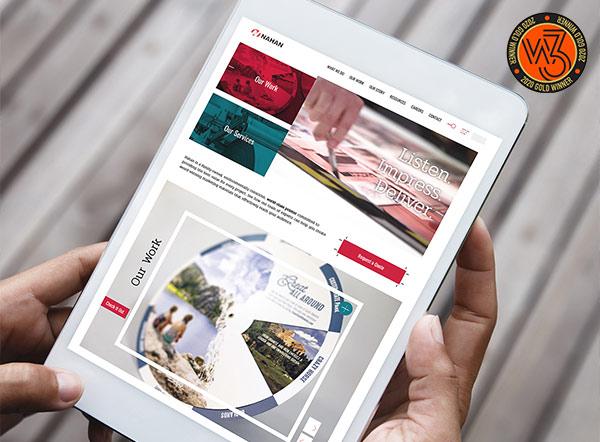 Nahan Printing Website | W3 Award