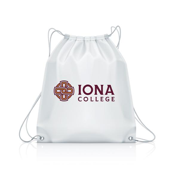 Drawstring Bag | Iona College Rebrand