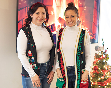ugly Christmas sweater vests