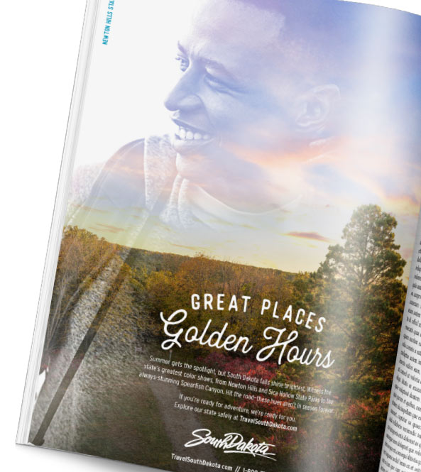 Great Places Golden Hour magazine spread