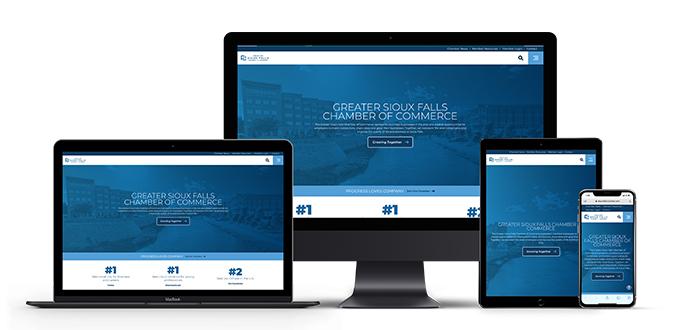 Sioux Falls Websites mockups
